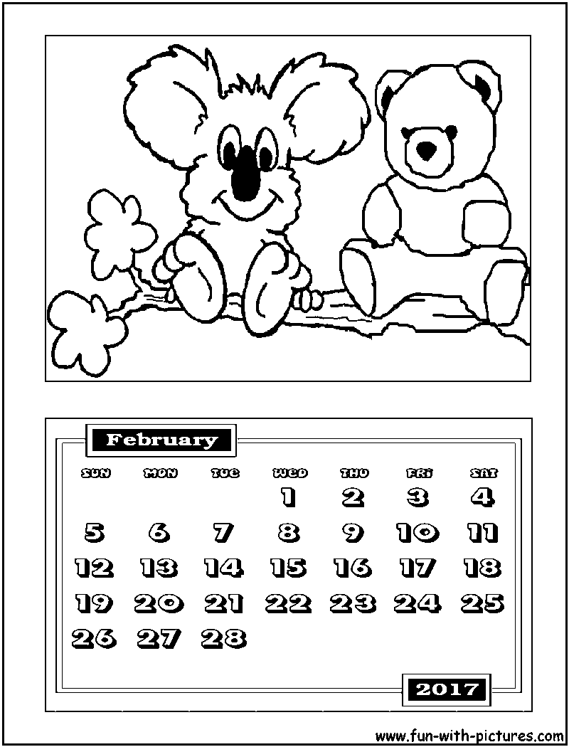 february free coloring pages