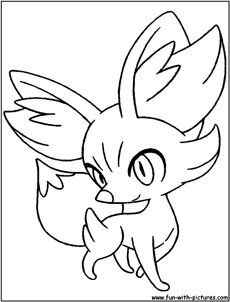 Pokemon fennekin coloring pages ~ Pokemon Fennekin Coloring Coloring Pages