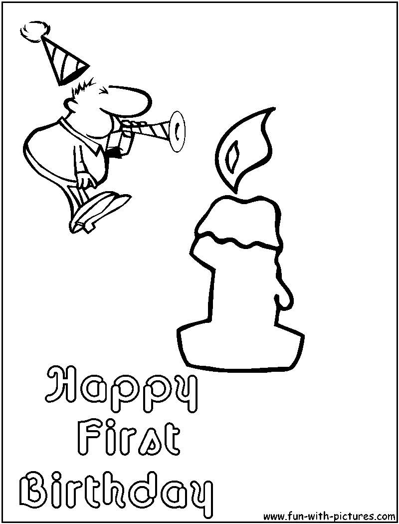 free 1st birthday coloring pages - photo#4