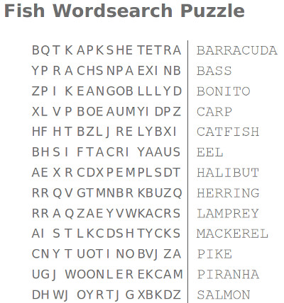 Wordsearch Puzzles For Kids Free Printables And