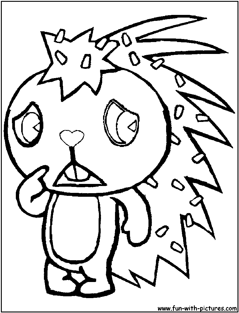 flaky coloring page