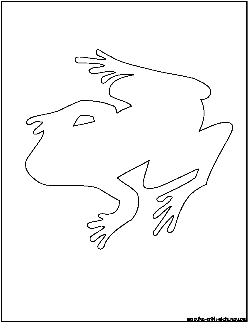 animal outlines coloring pages free printable colouring pages
