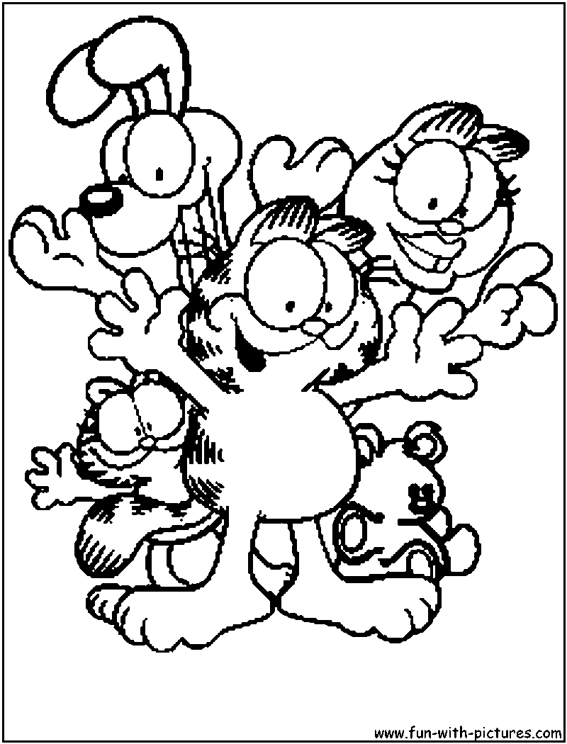 garfield face coloring pages - photo#31