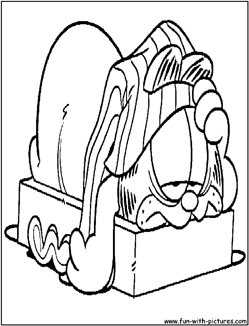 Free printable coloring pages garfield - Garfield Hangover Coloring Page
