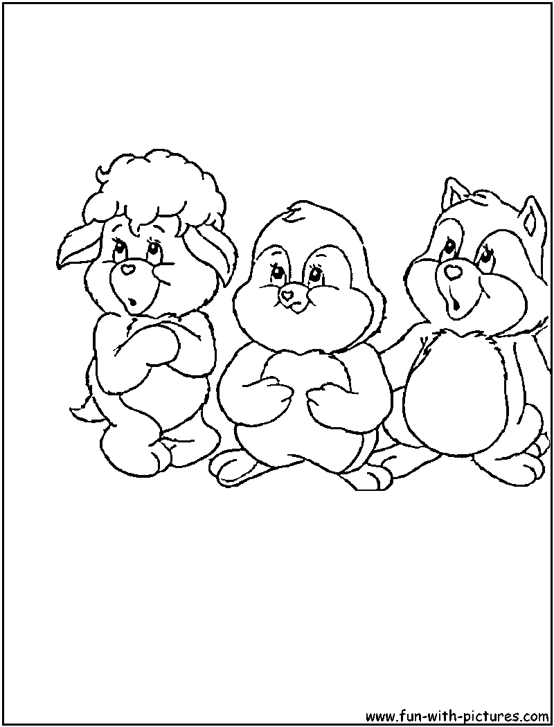 carebear cousin coloring pages - photo#1