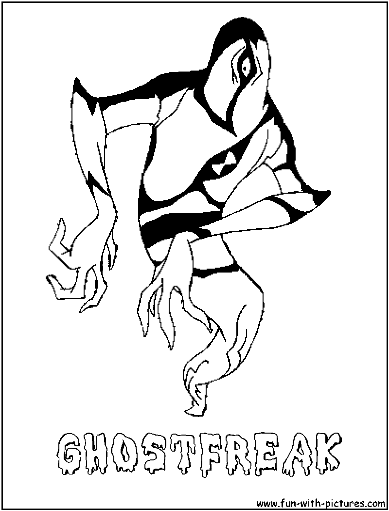 Ben10 Wildmutt Coloring Page Ghostfreak