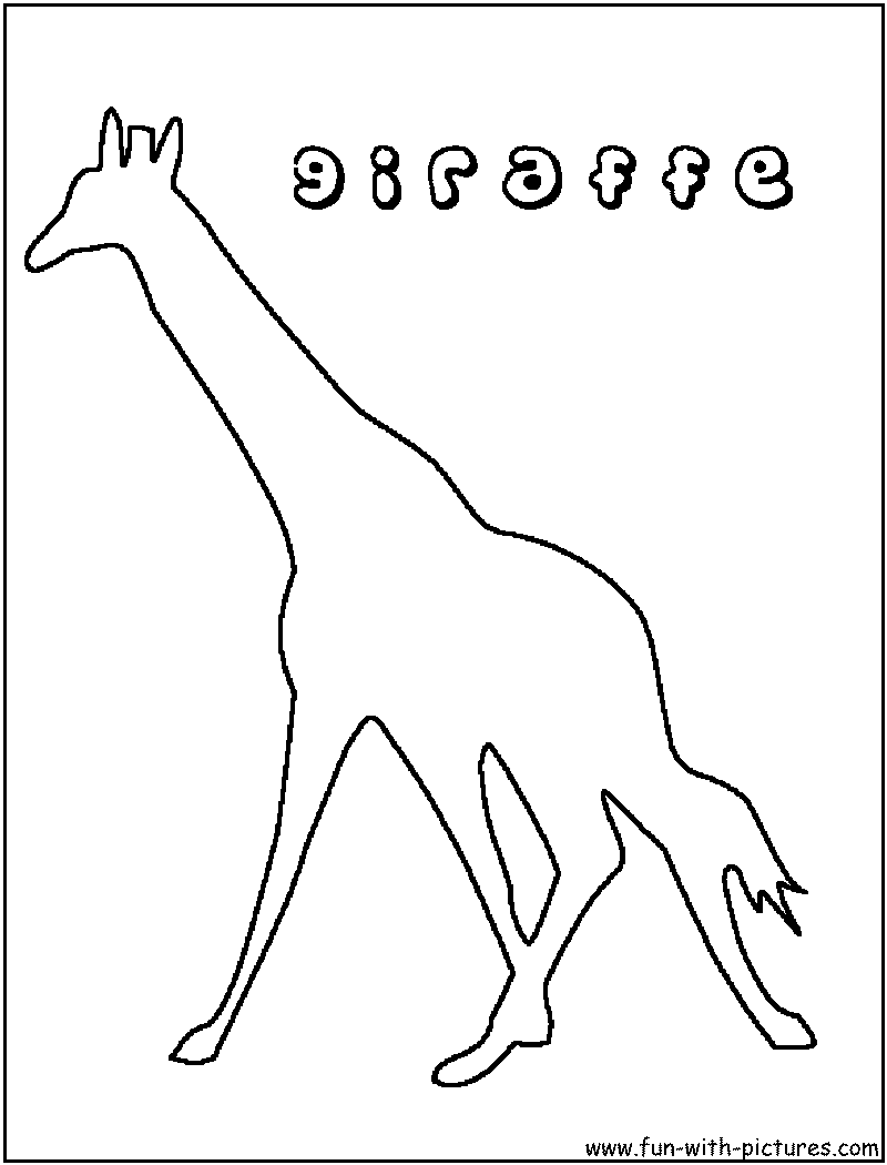 giraffe coloring pages free printable colouring pages for kids
