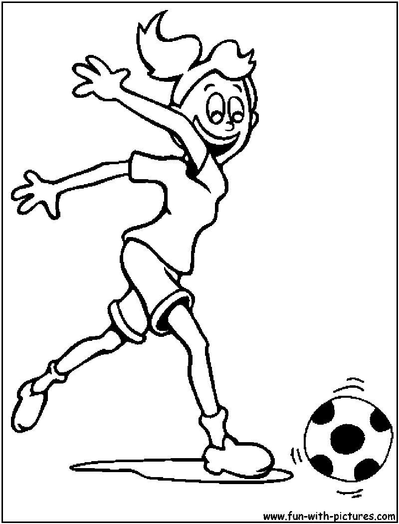 Free printable coloring pages soccer - Girl Football Coloring Page