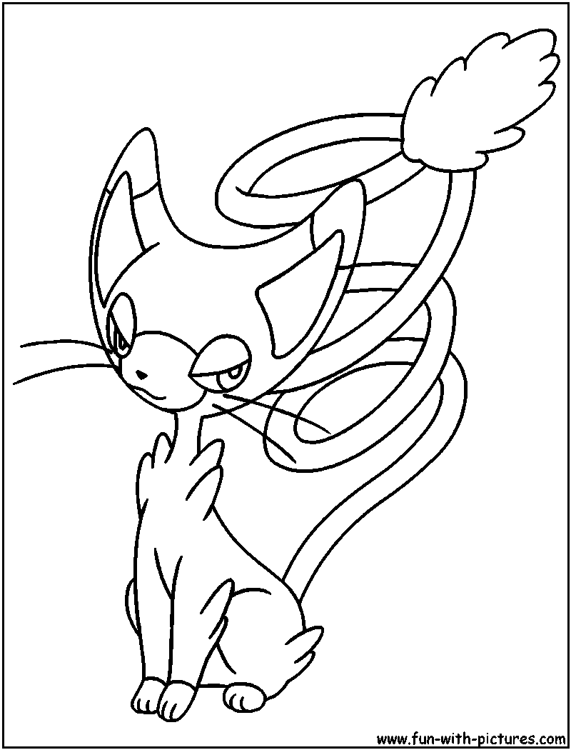 Pokemon coloring pages liepard - Pokemon Coloring Pages Liepard