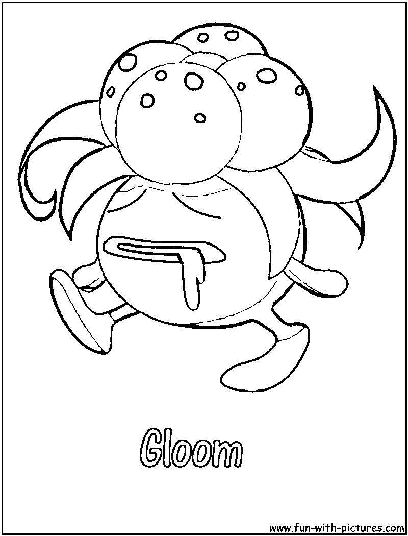 pokemon gloom coloring pages - photo#2