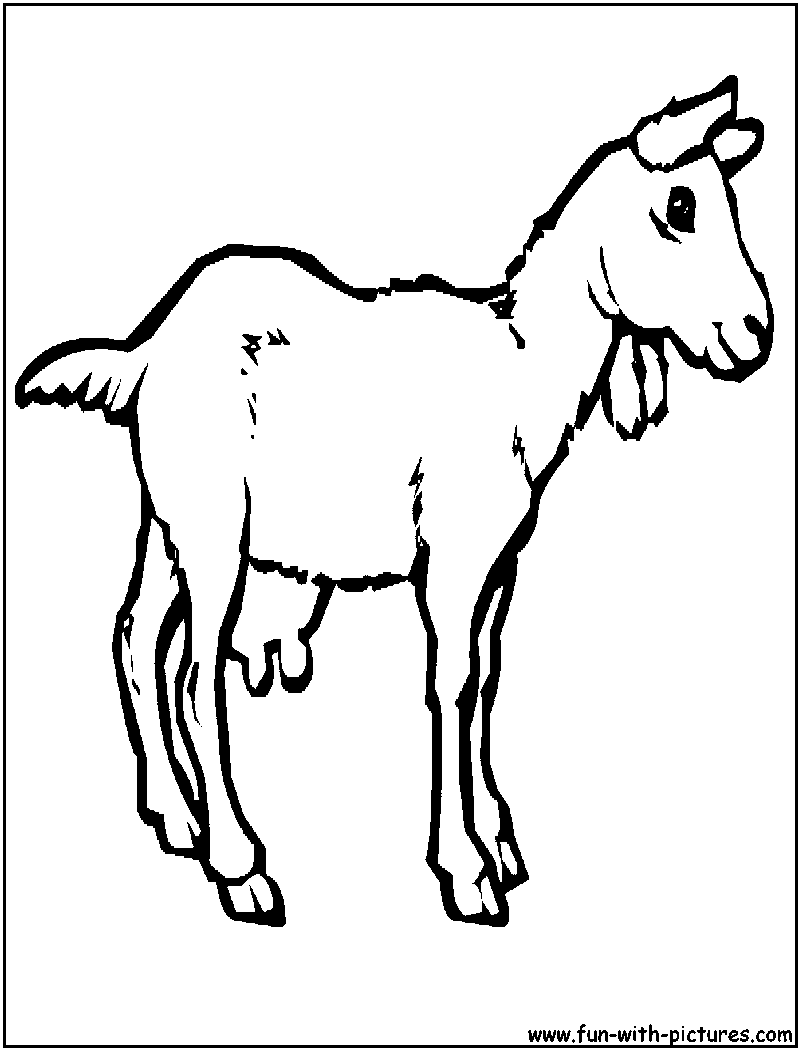 g for goat coloring pages - photo #35