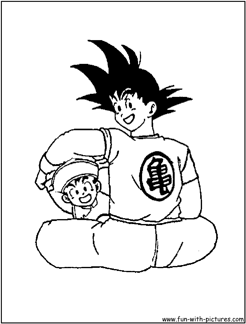 Free Goku Power 4 Coloring Pages