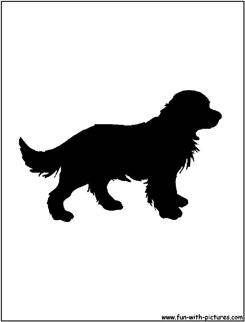 Silhouette Picture - Golden Retriever Silhouette