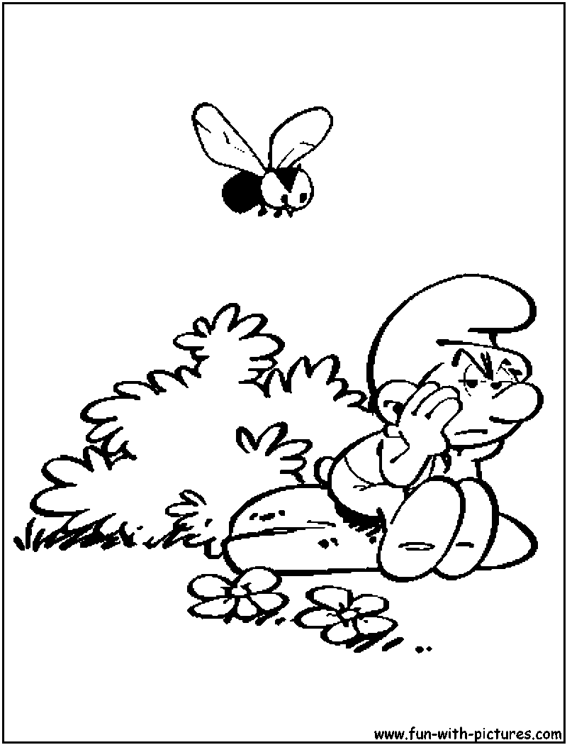 Grouchysmurf coloring page for Grumpy smurf coloring pages