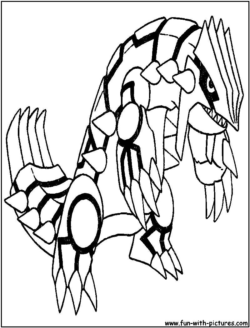 Groudon Coloring Page