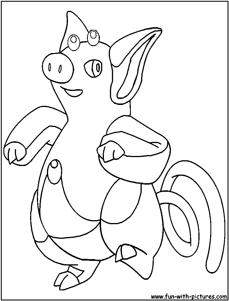 pig pokemon coloring pages - photo#8
