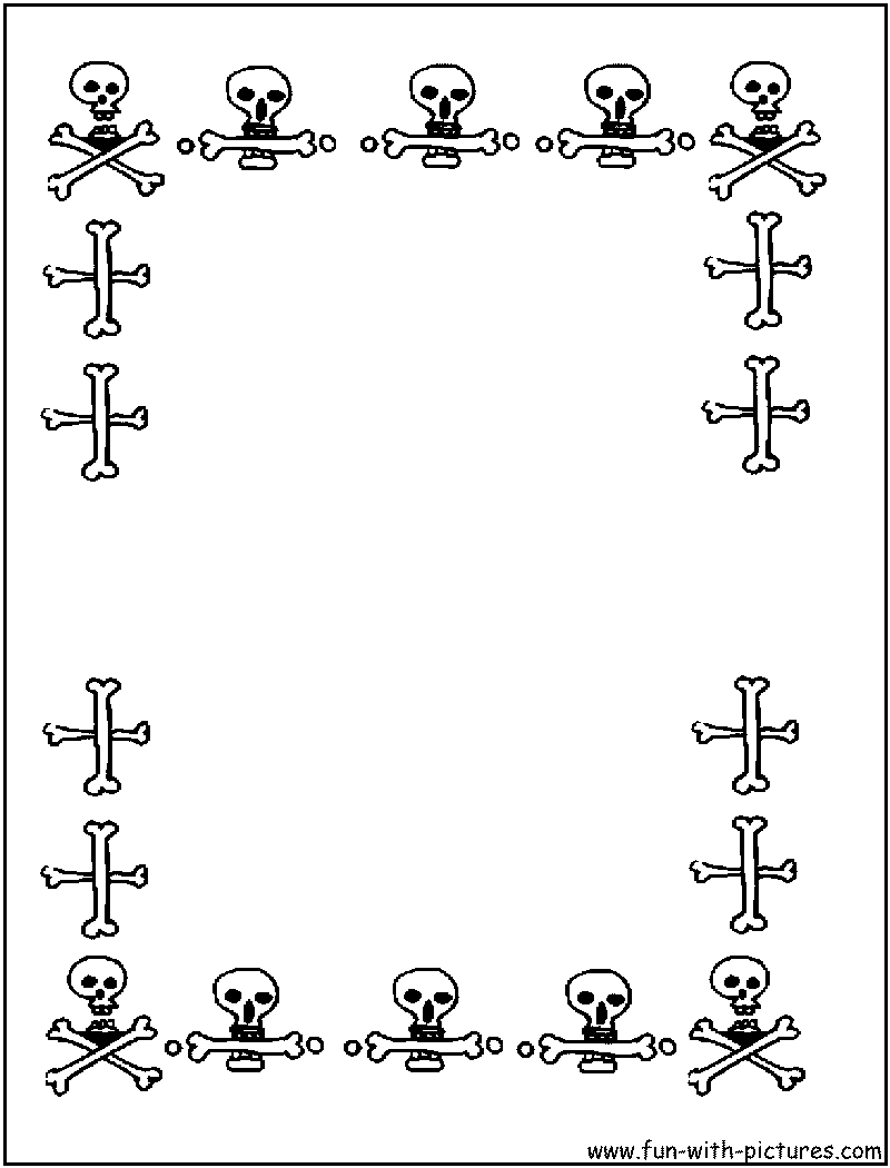 borders coloring page