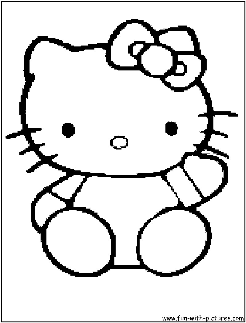 Hello Kitty Coloring Page2