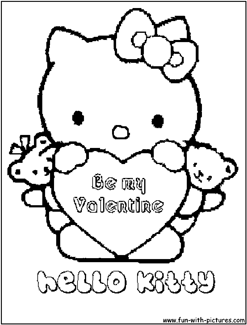 Hello Kitty Coloring Page3