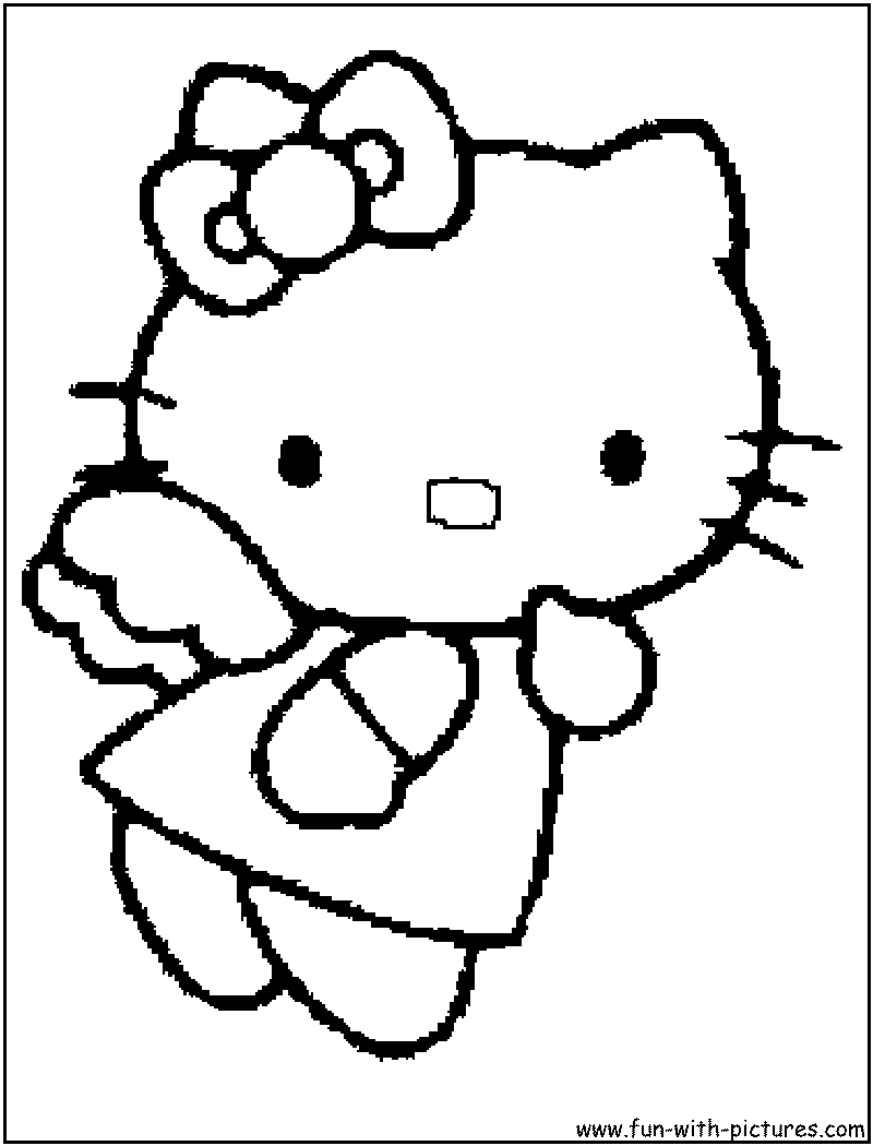 Hello Kitty Coloring Page4