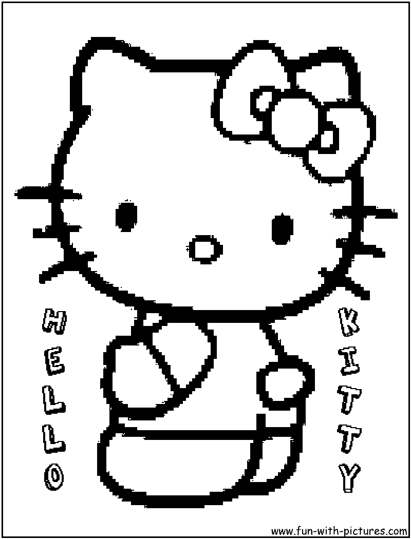 hello kitty coloring pages free printable colouring pages for