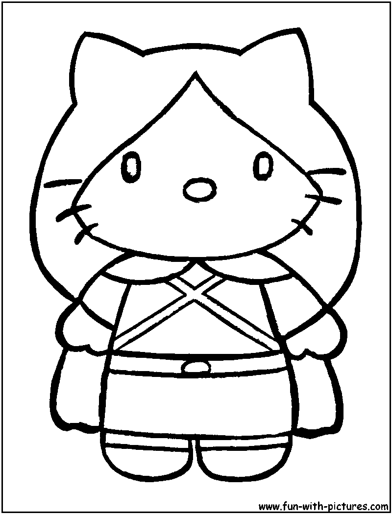 Hello Kitty Cheer Coloring Pages