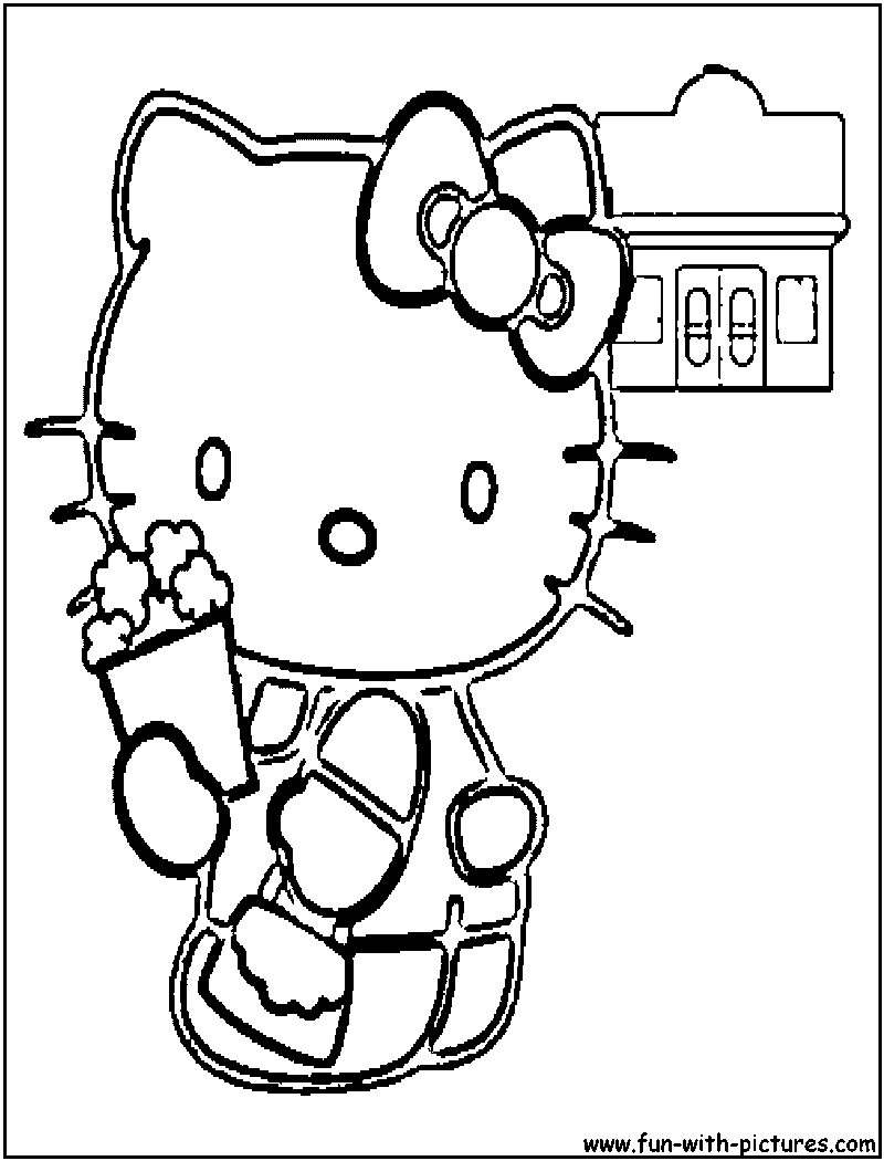 popcorn printable coloring pages - photo#23