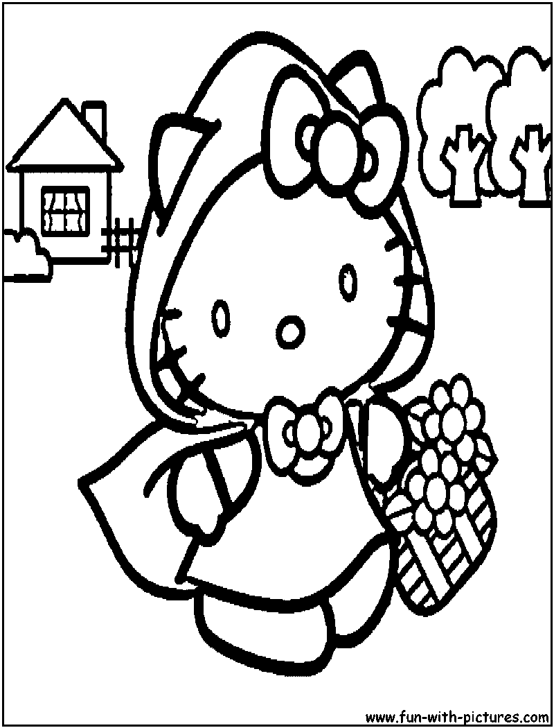 Free Hello In Spring Coloring Pages