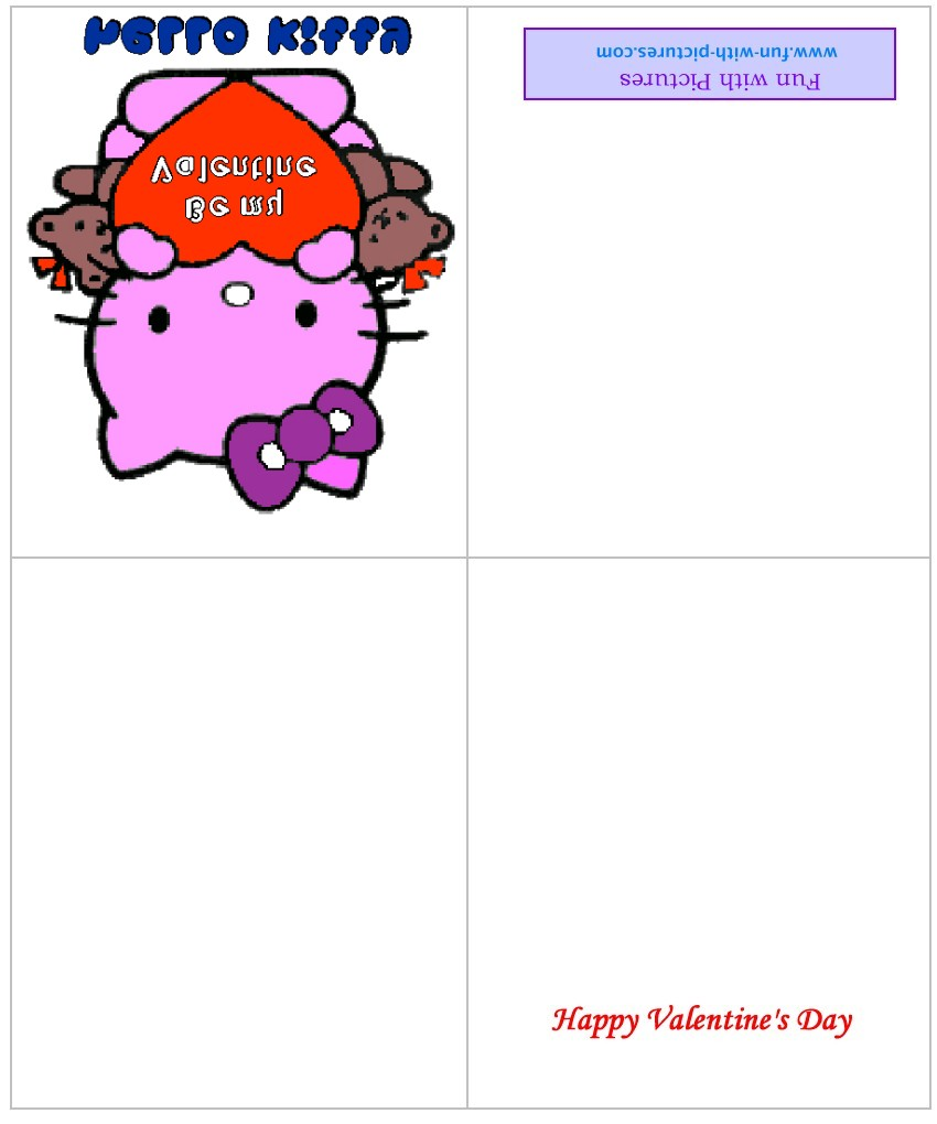 Printable Valentine Cards and Free Valentine Greeting Cards from – Hello Kitty Valentine Cards