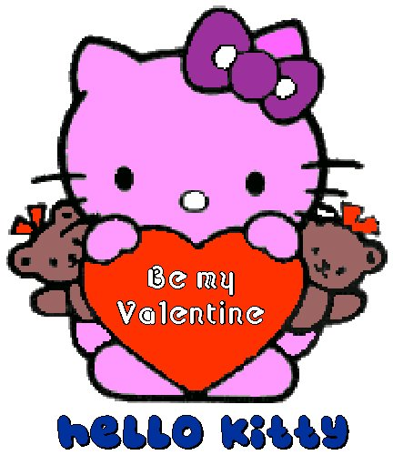 hellokitty valentine card