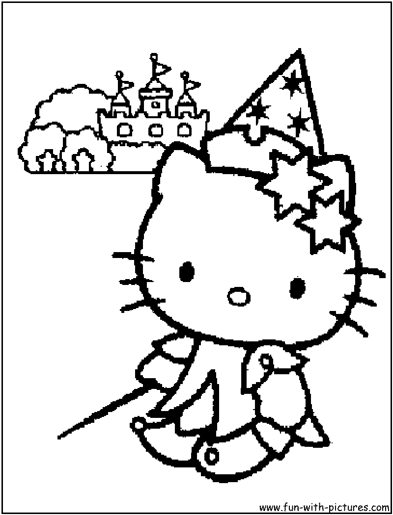 Free Coloring Pages Of Hello Kitty Skating