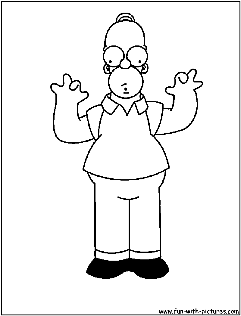 Homer Simpson Coloring Page