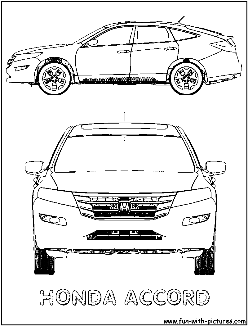 crafts coloring pages fun pictures honda accord coloring page