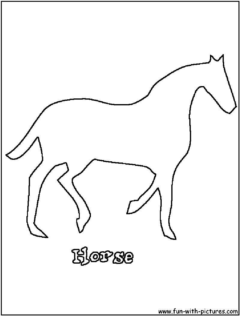 walking horse outline 1 coloring book colouring svg sketch
