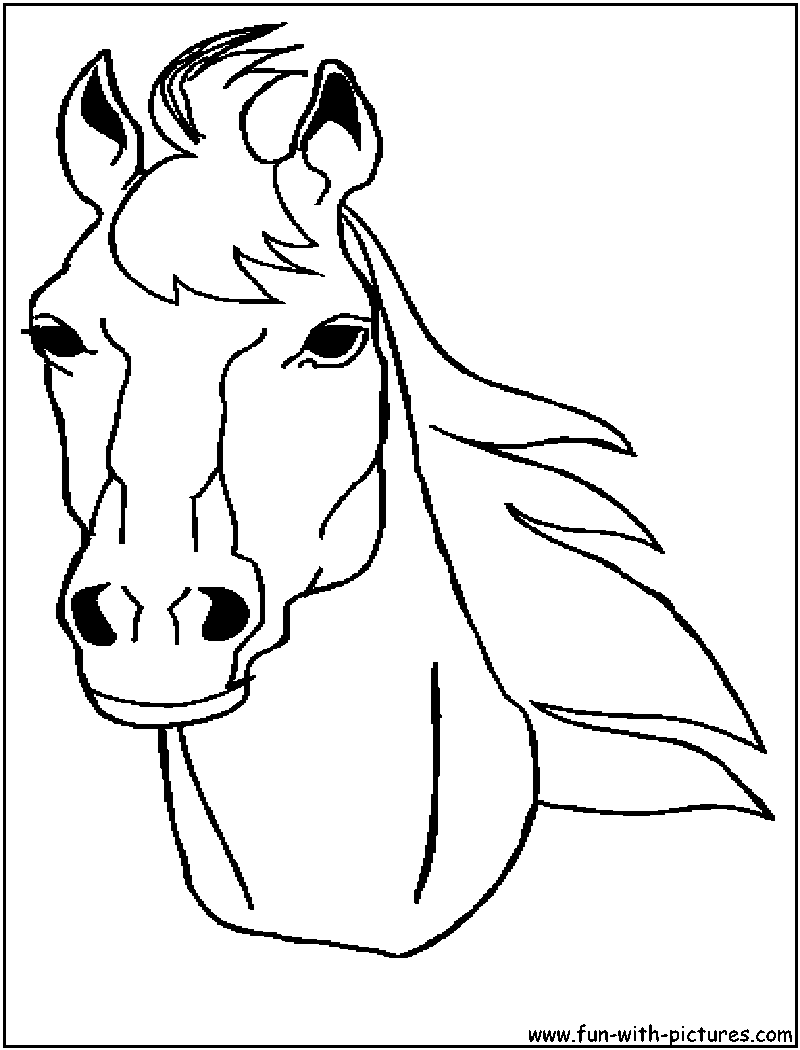 horse face coloring pages - photo#23