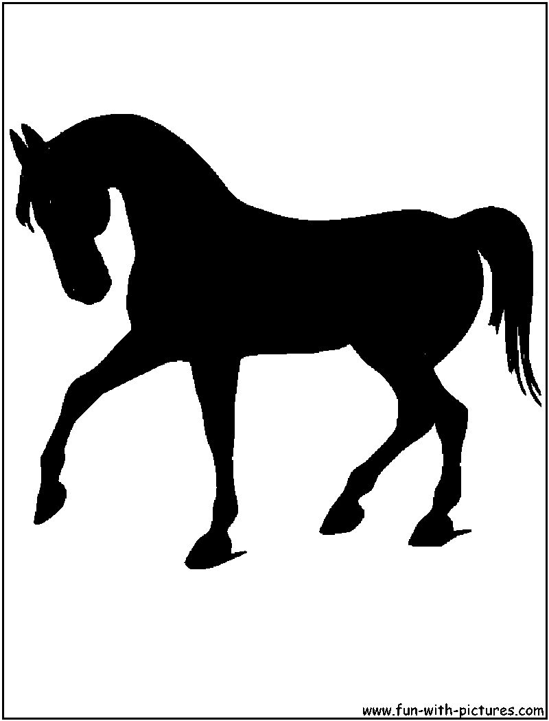 Horse Silhouette Horse Trot Silhouette