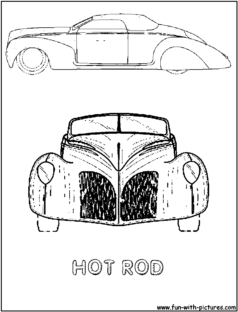 more cars coloring pages free printable colouring pages for kids to print and color in - Hot Rod Coloring Pages