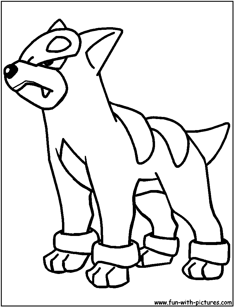 Pokemon coloring pages hydreigon - Houndour Coloring Page