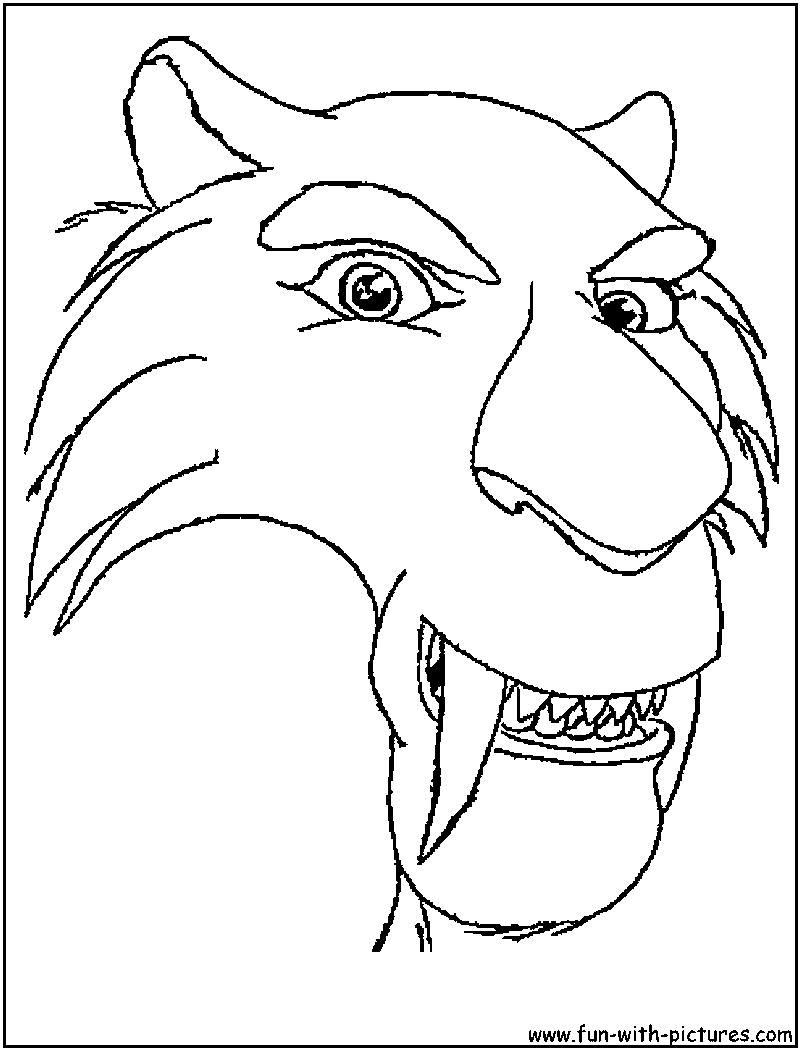 diego ice age coloring pages - photo#1