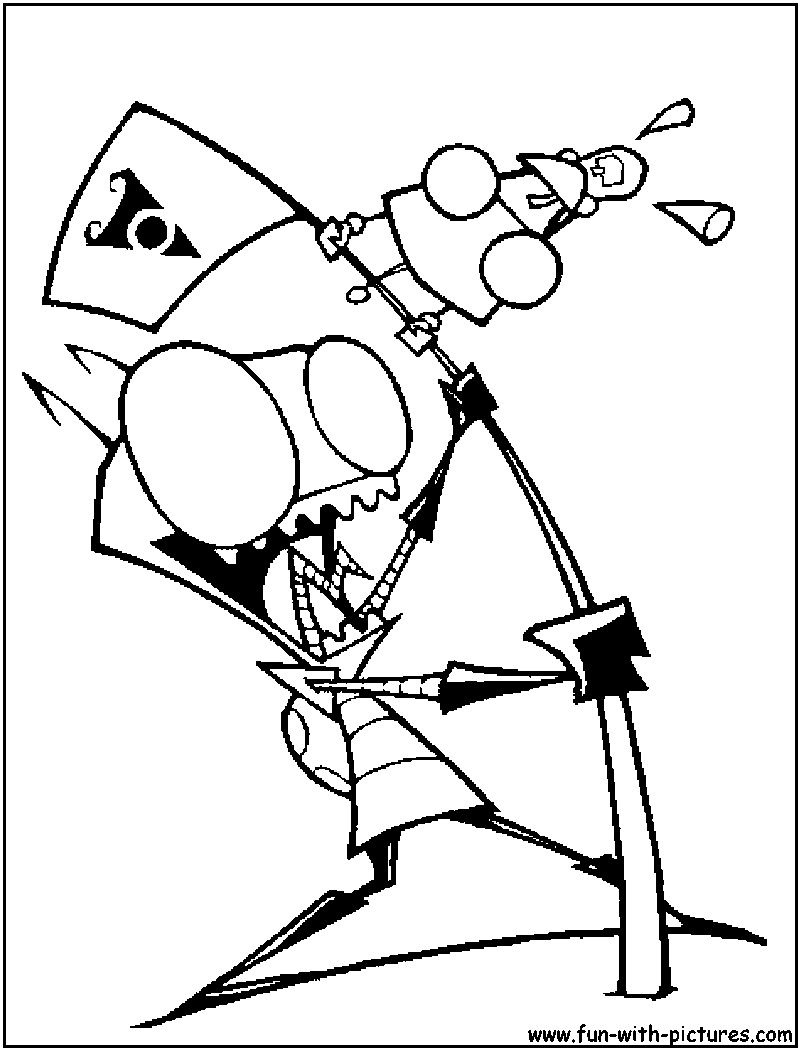 gir invader zim coloring pages - photo#19