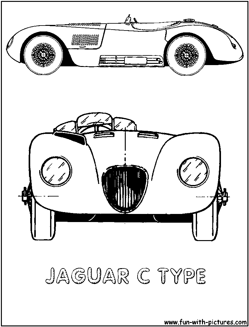 jaguar e type coloring pages - photo#7