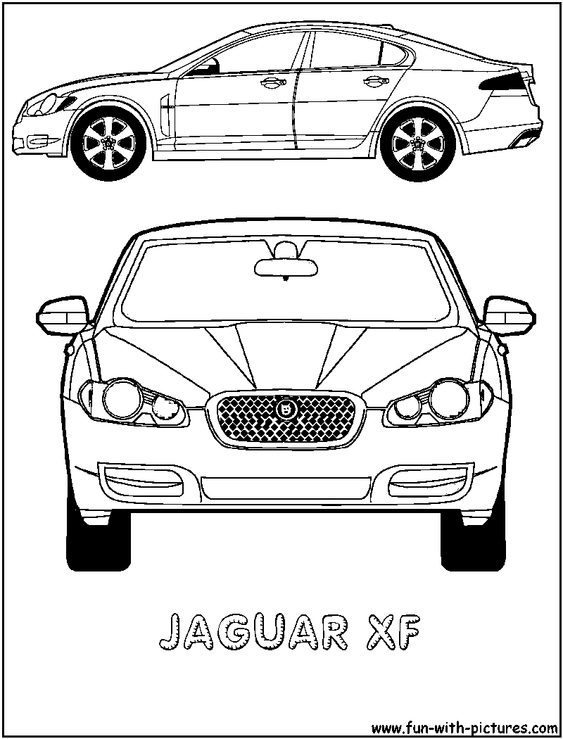 Free coloring pages of jaguar cars