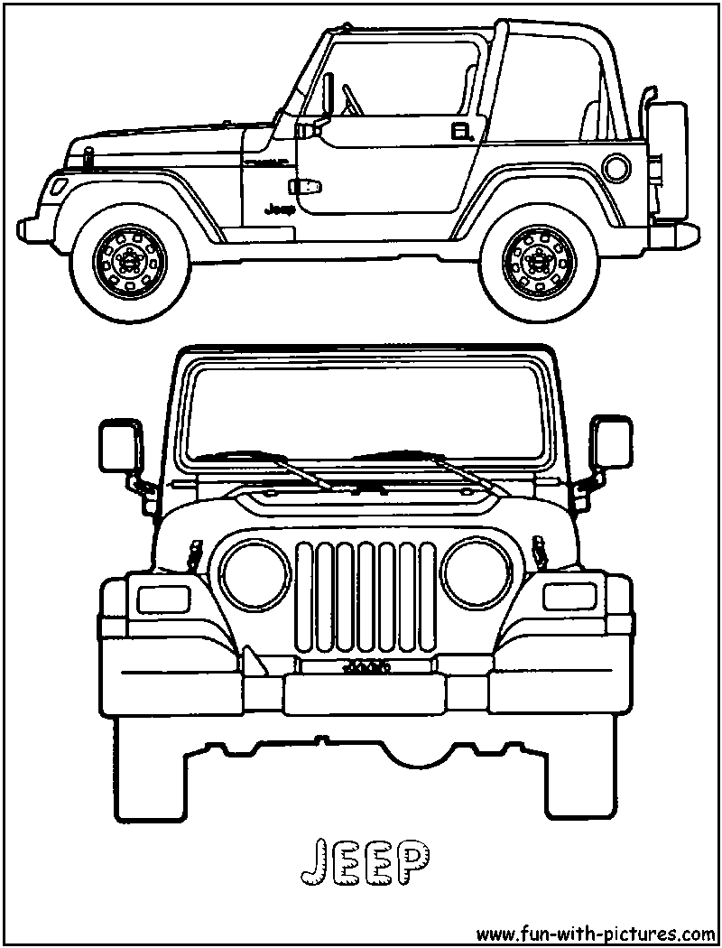 Jeep Rubicon Coloring Pages - Bltidm