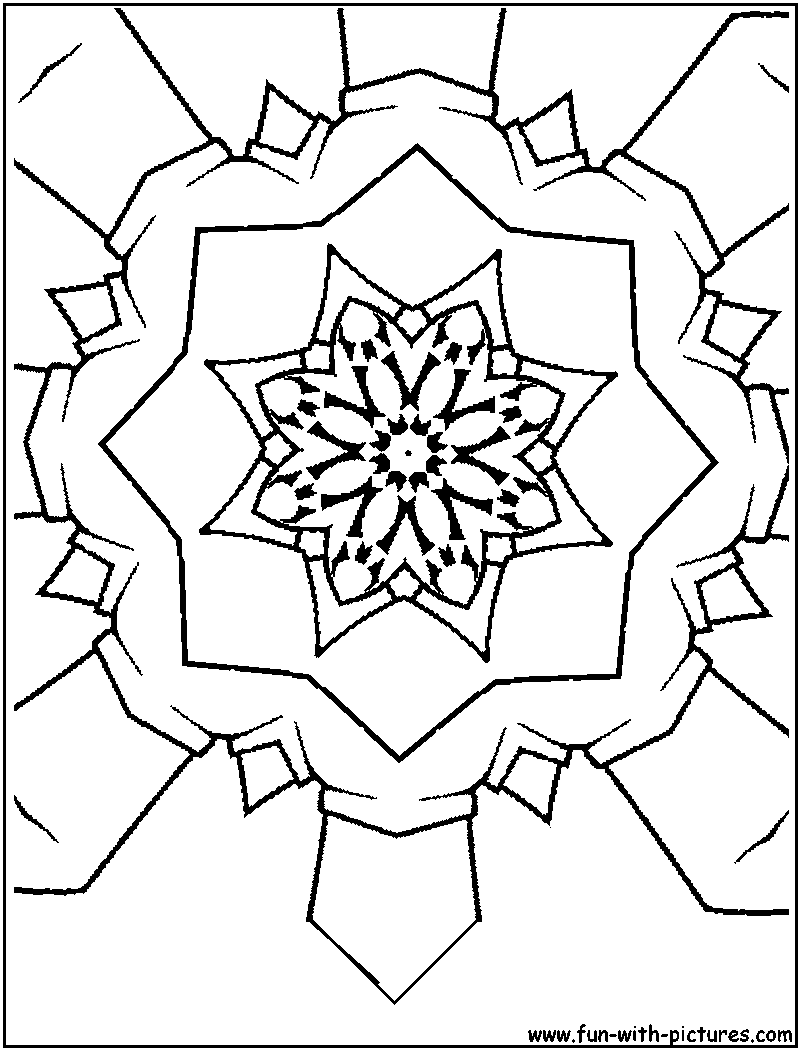 Free coloring pages kaleidoscope designs - Kaleidoscope Colouring Spectacular Patterns Kaleidoscope Coloring Page