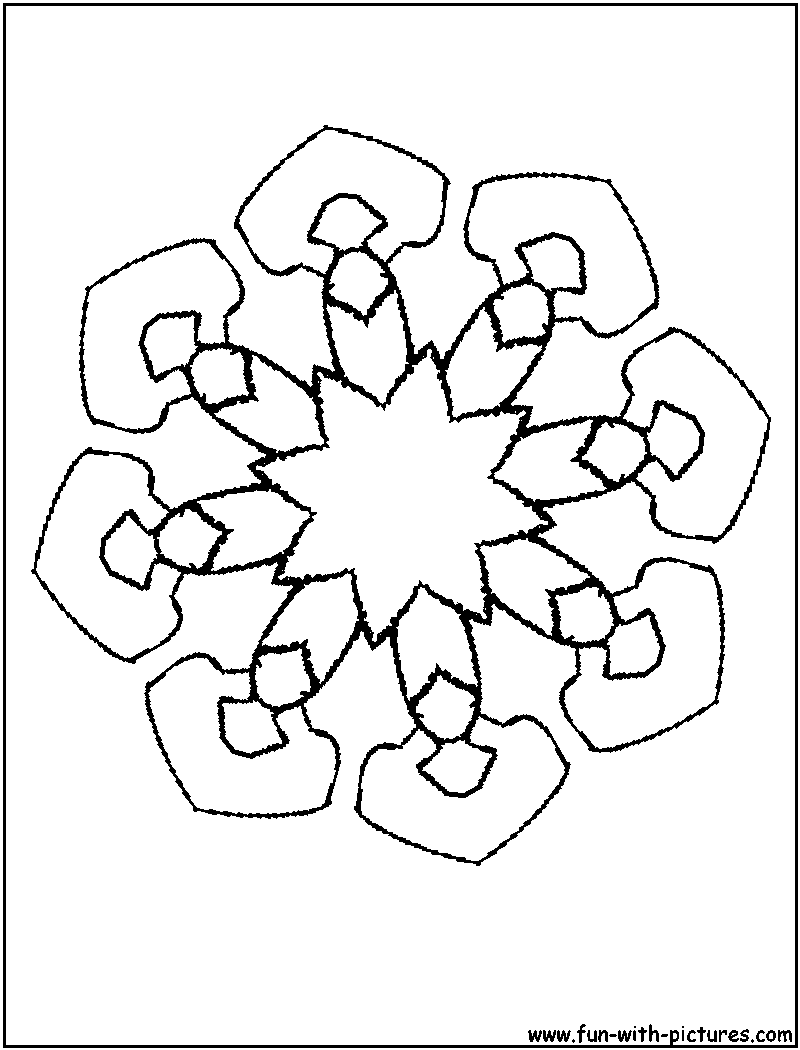 Free Coloring Pages Kaleidoscope Printable N Tin