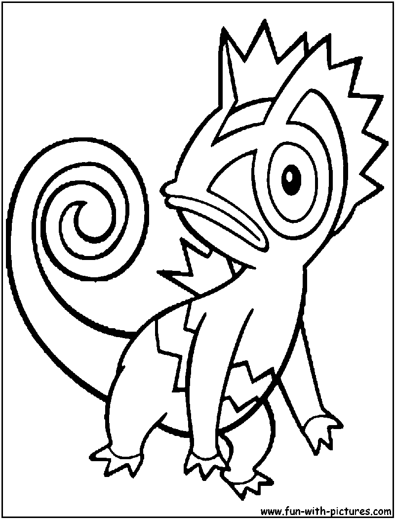 Herdier pokemon coloring pages - Kecleon Coloring Page