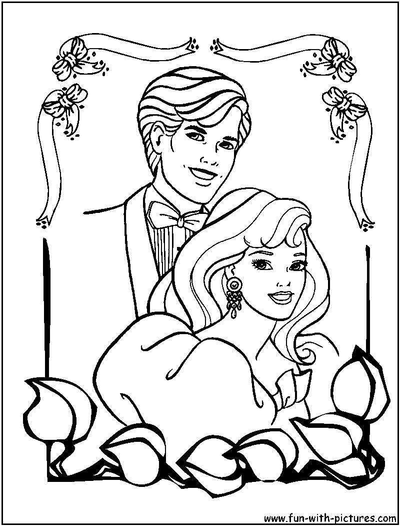 Ken Barbie Coloring Page
