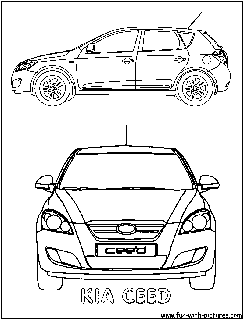 Kia Car Coloring Pages : Kia ceed coloring page