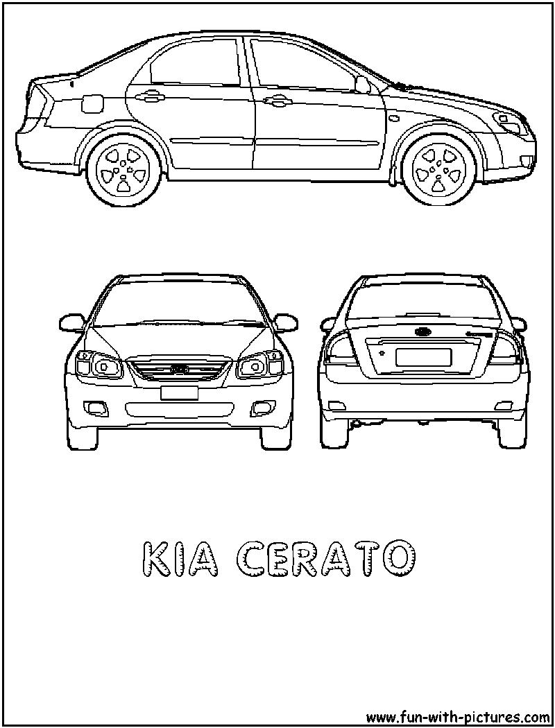 kia cerato coloring page