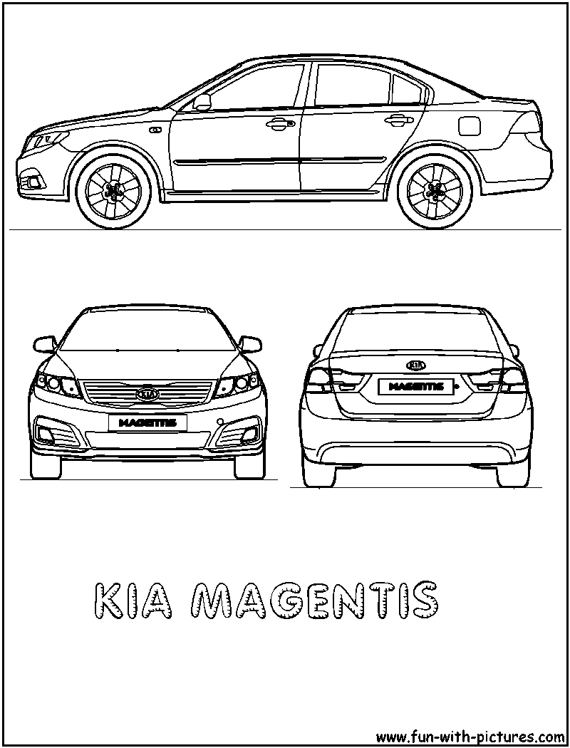 Kia Car Coloring Pages : Kia magentis coloring page